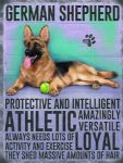 German Shepherd Metal Plaque Dog Sign Wall Picture